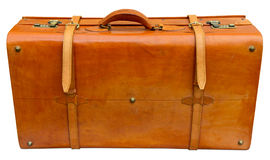 Old orange suitcase Stock Photography