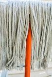 old orange Swab for cleaning floor Stock Photo