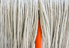 old orange Swab for cleaning floor Royalty Free Stock Photo