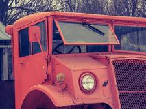 The old orange truck of the army. Photo taken from an individual who has several old trucks Stock Photo
