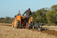 Old orange vintage fordson tractor Royalty Free Stock Images