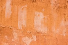 Old Orange wall. Background of Old orange wall Stock Image