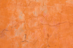 Old orange wall. With fracture Stock Images