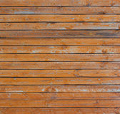 Old orange wooden fence Royalty Free Stock Photo