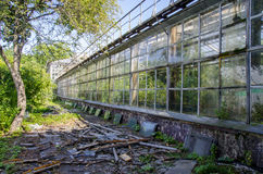 The old orangery. And debris Stock Photography
