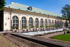Old Orangery in Royal Baths in Warsaw royalty free stock photo