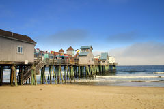 Old Orchard Beach, Maine. The Town of Old Orchard Beach is ideally situated on the scenic coastline of Southern Maine where it offers sandy beaches and a Stock Photos
