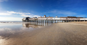 Old Orchard Beach panorama Royalty Free Stock Photography