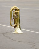 Old orchestral wind instrument a brass pipe Royalty Free Stock Photo
