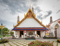 The old Ordination Hall of The Temple of dawn Royalty Free Stock Images