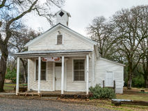 Old Oregon City schoolhouse. Historic Oregon City schoolhouse at Oregon City, California Stock Photo