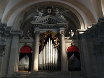 Old organ. Picture of the old organ in the Venetian church stock photography