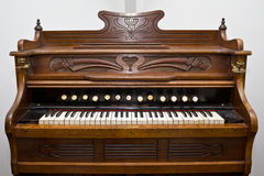 Old organ. Musical organ instrument called the 'Harmonium Stock Photography