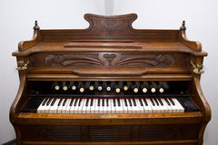Old organ. Old musical organ instrument called Harmonium Royalty Free Stock Image