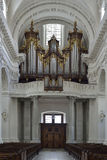 Old organ from Cathedral of Solothurn. Switzerland Stock Photography