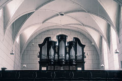 Old organ in christian church Stock Images