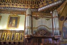 Old organ in a church. An old organ in the old San Francisco church in Quito, Ecuador royalty free stock image