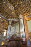 Old organ in a church. An old organ in the old San Francisco church in Quito, Ecuador stock image