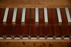 Old Organ Keys Stock Image