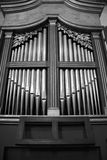 Old Organ in Staffarda Abbey Royalty Free Stock Images