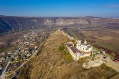 Old Orhei, Moldova Republic. Aerial view of Old Orhei and Butuceni village shot using a high resolution drone stock photos