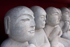 Old oriental buddha statues Royalty Free Stock Photography