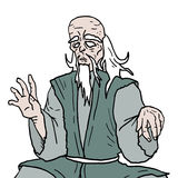Old oriental man Royalty Free Stock Photography
