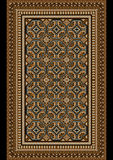 Old oriental rug with beige and brown shades Stock Photo