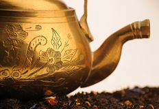 Old oriental teapot Royalty Free Stock Image