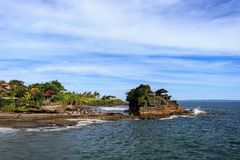 Old oriental temple, Tanah Lot, Bali, Indonesia. Royalty Free Stock Photo