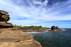 Old oriental temple, Tanah Lot, Bali, Indonesia. Royalty Free Stock Photography