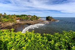 Old oriental temple, Tanah Lot, Bali, Indonesia. Royalty Free Stock Images