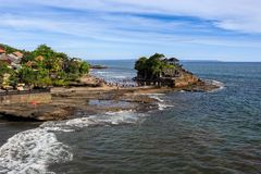 Old oriental temple, Tanah Lot, Bali, Indonesia. Royalty Free Stock Photos