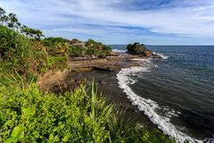 Old oriental temple, Tanah Lot, Bali, Indonesia. Stock Photography