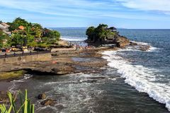 Old oriental temple, Tanah Lot, Bali, Indonesia. Stock Images
