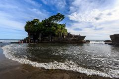 Old oriental temple, Tanah Lot, Bali, Indonesia. Stock Image