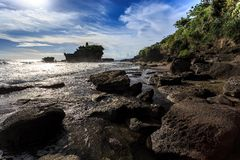 Old oriental temple, Tanah Lot, Bali, Indonesia. Stock Photo