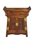 Old original vintage wooden Chinese chest cupboard Royalty Free Stock Photography