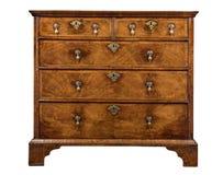 Old original vintage wooden trunk or dresser chest of drawers Stock Image