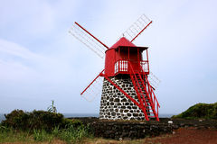Old original windmill on Pico, Azores Royalty Free Stock Images