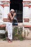 Old Oriyan Priest Praying. Stock Photography