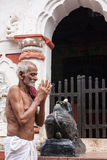 Old Oriyan Priest Praying. Royalty Free Stock Photos