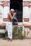 Old Oriyan Priest Praying. Stock Photography