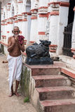 Old Oriyan Priest Praying. Stock Images
