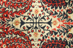 Old and ornamental carpet background Royalty Free Stock Photography