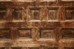 Old ornamental design in wood, wooden carved Royalty Free Stock Images