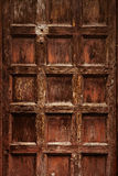 Old ornamental  wooden carved door  wheathered Stock Photos