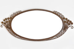 Old ornamented metal picture frame Royalty Free Stock Photos