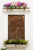 Old ornamented window Royalty Free Stock Image