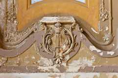 Old ornaments on ceiling building interior Stock Photography